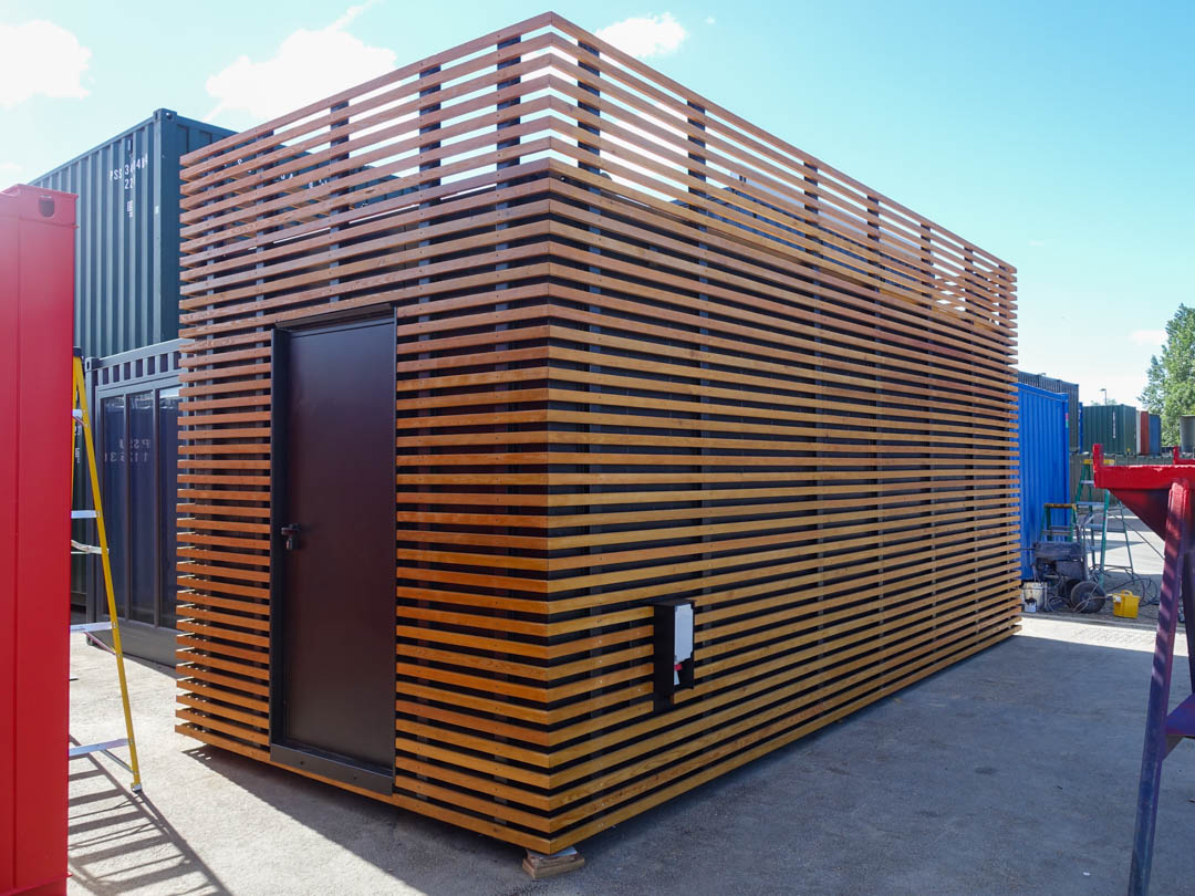 Wood Cladded Shipping Container