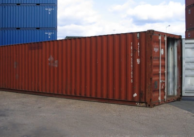 Used 40ft Shipping Container in Red