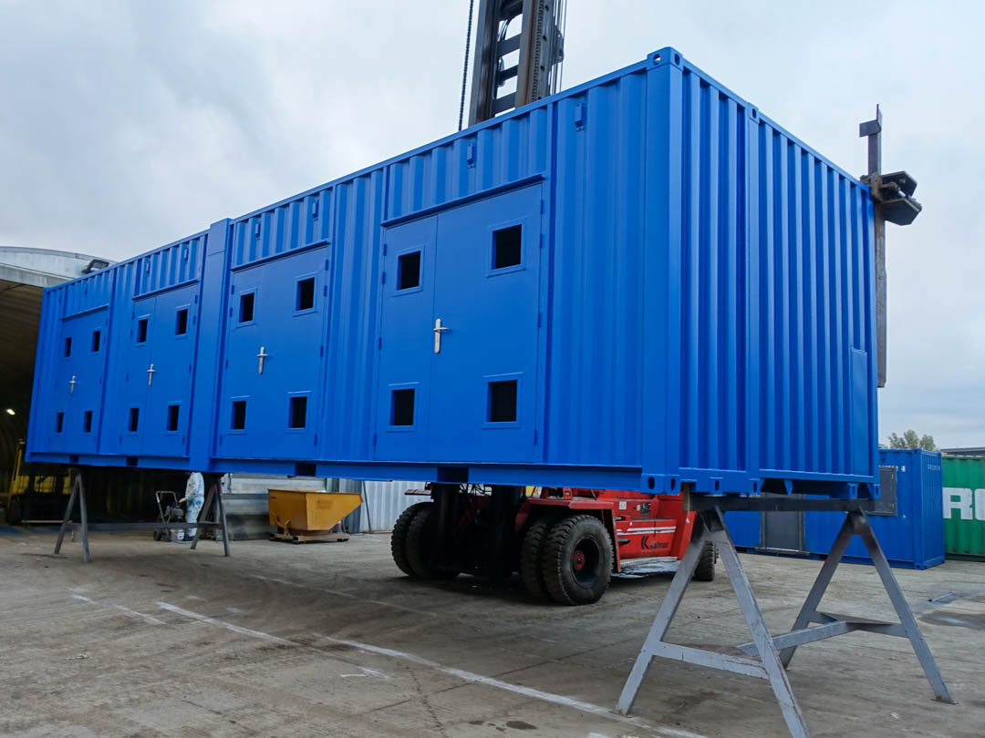 Container Conversion with multiple doors