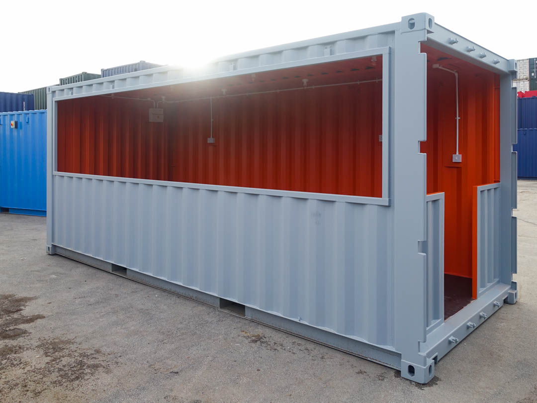 Converted Shipping Container Shed