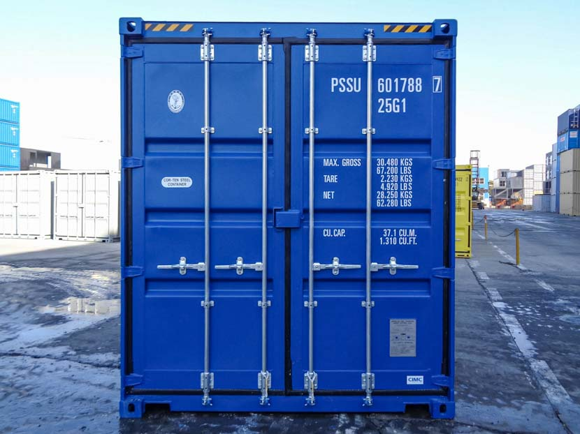 20ft Double Door High Cube Shipping Container Front Door