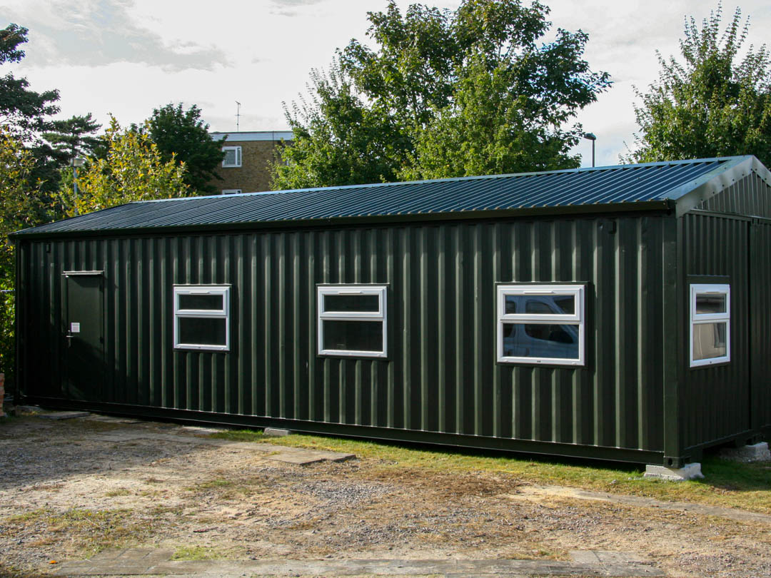 Converted Shipping Container School