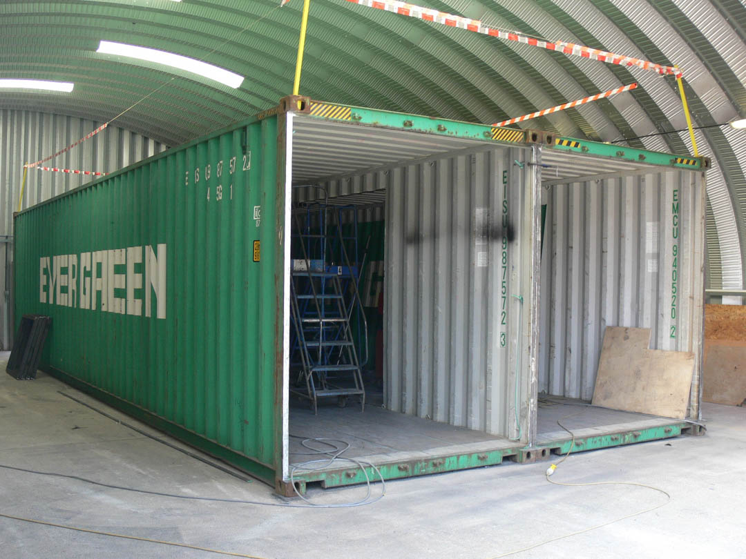 Converted Shipping Container Local Depot