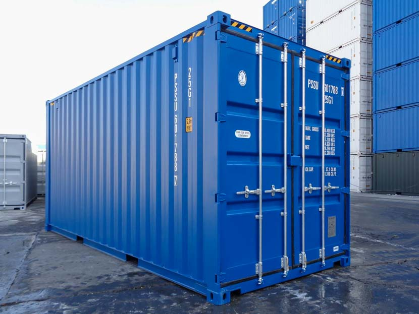 20ft Blue Double Door Shipping Container