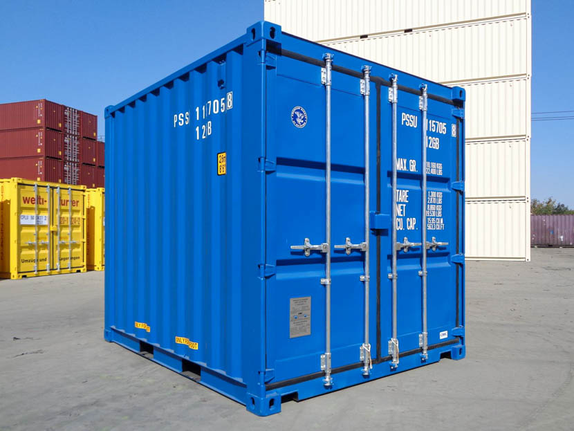 Blue 10ft shipping container