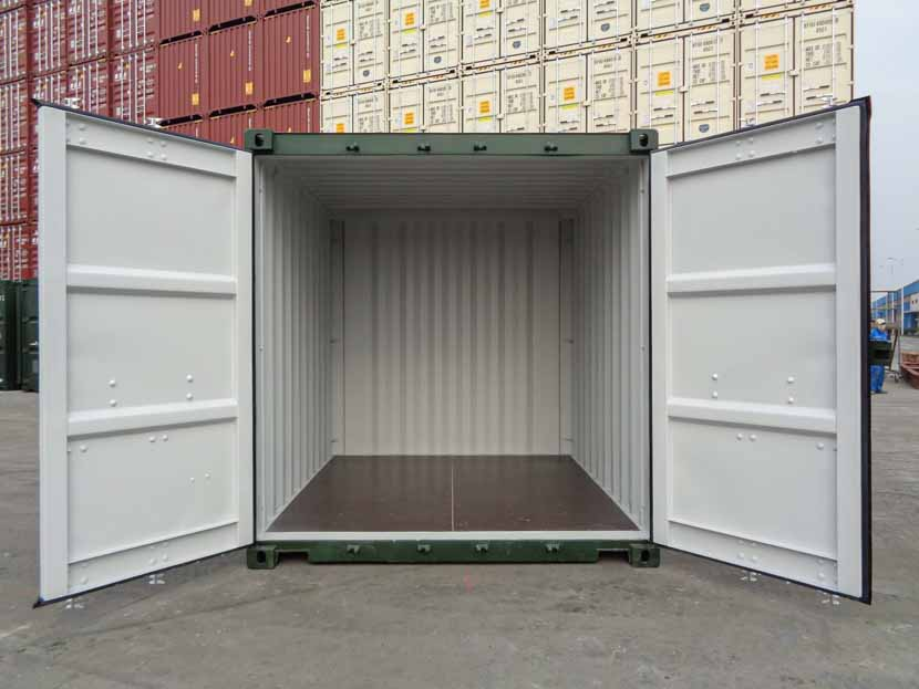 10ft container with open doors