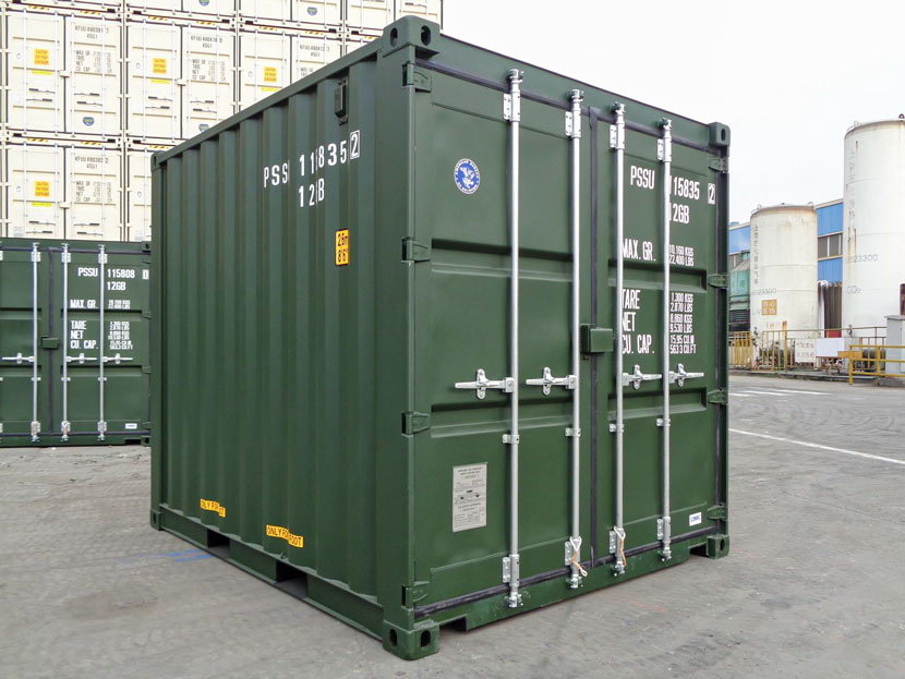 10ft Shipping Containers Green