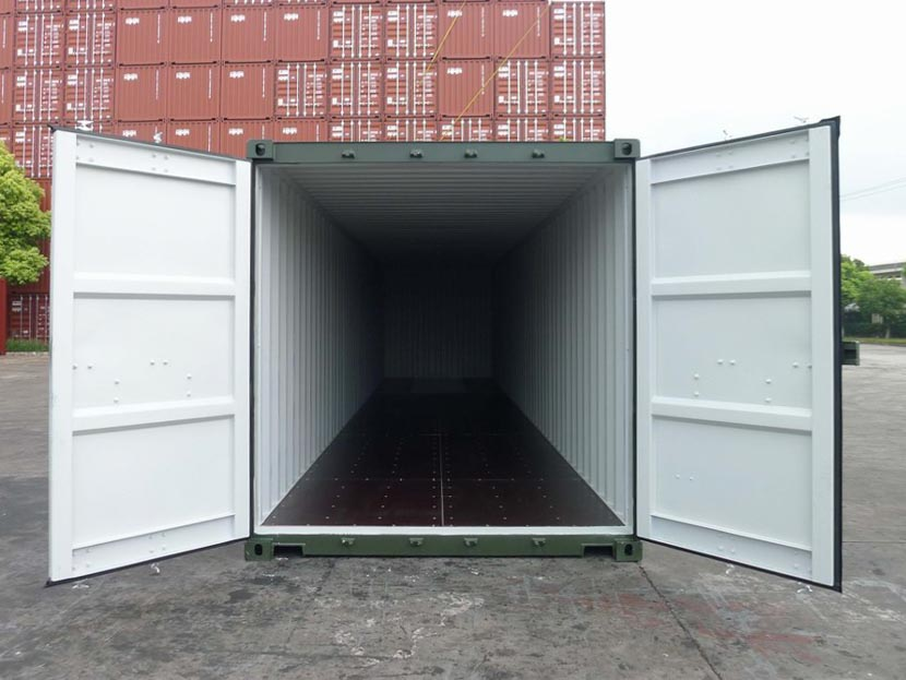 40ft Shipping Container with open doors
