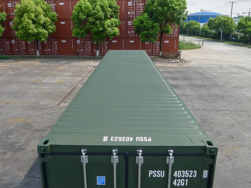 40ft Green Container Roof
