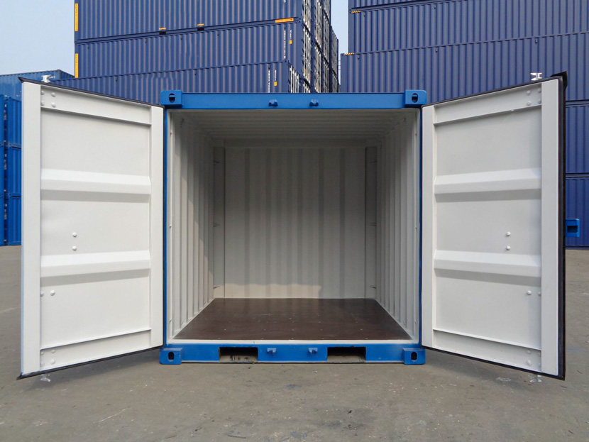 Small Shipping Containers with doors open