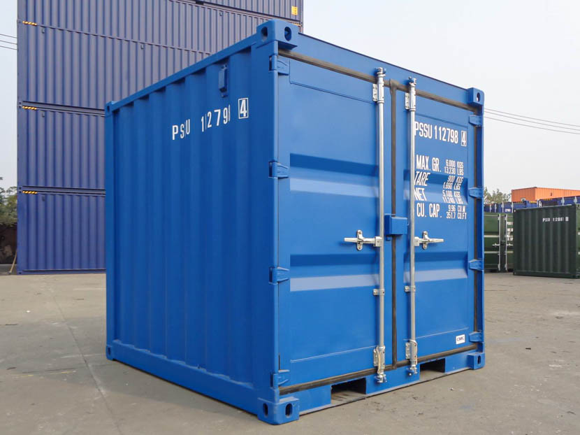 8ft Blue Shipping Containers