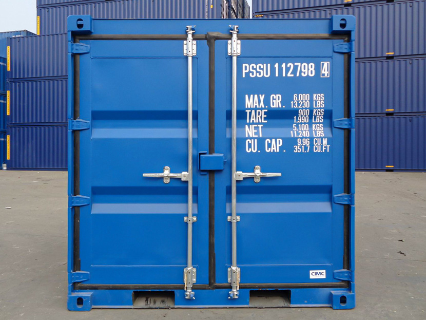 8ft shipping container front